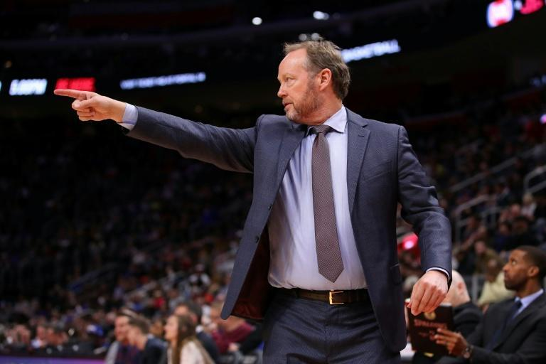 Milwaukee coach Mike Budenholzer has become only the fourth man to earn three NBA coach of the year awards (AFP Photo/Gregory Shamus)