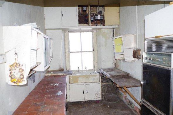 The kitchen at Seafield House.