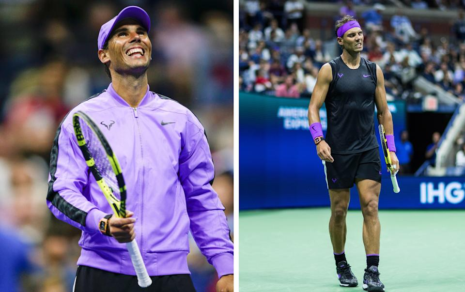 """<h1 class=""""title"""">August 29: Rafael Nadal</h1> <div class=""""caption""""> Rafael Nadal in two Big Fits. </div> <cite class=""""credit"""">Getty Images</cite>"""