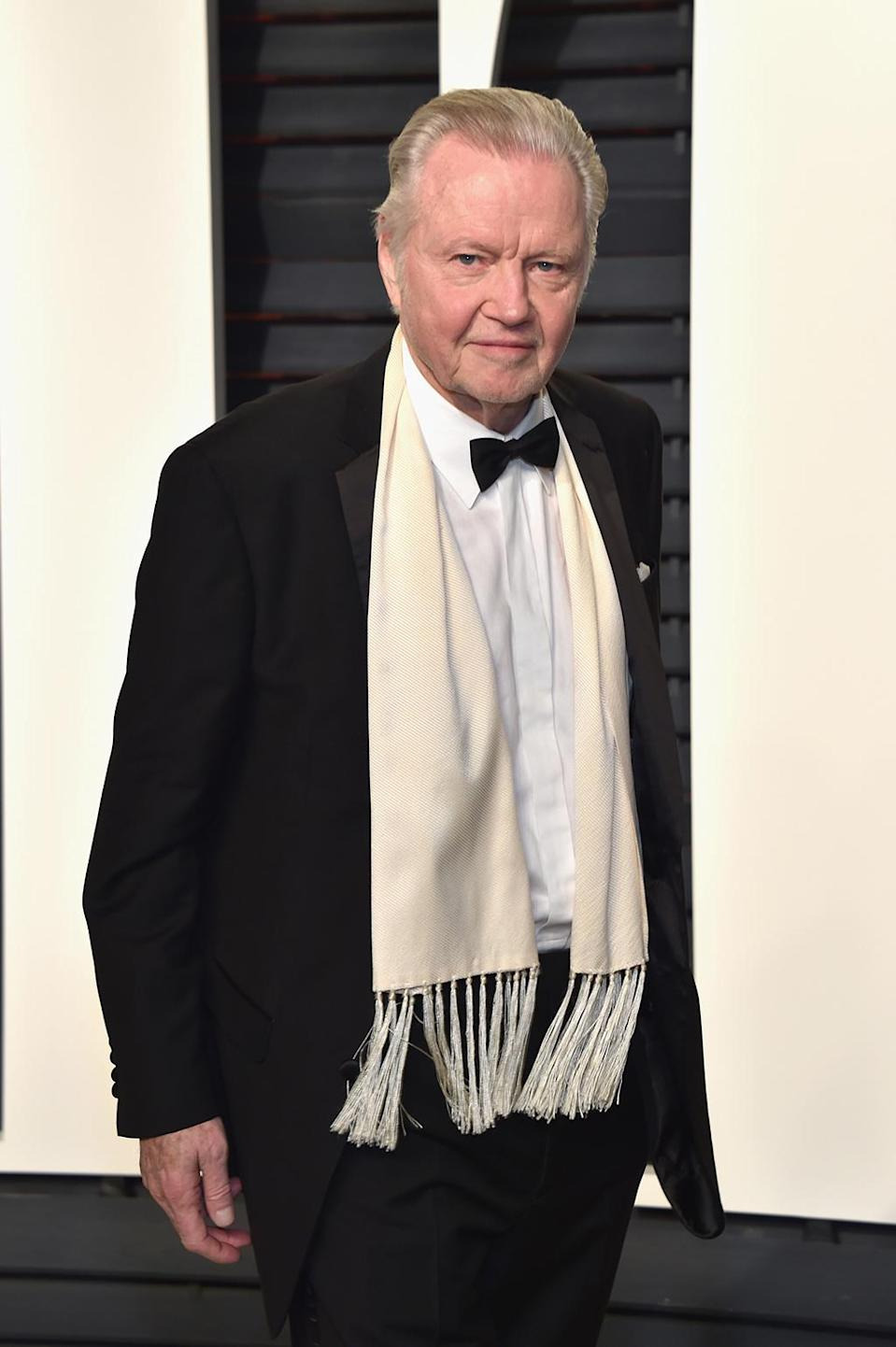 <p>Jon Voight attends the 2017 Vanity Fair Oscar Party hosted by Graydon Carter at Wallis Annenberg Center for the Performing Arts on February 26, 2017 in Beverly Hills, California. (Photo by Pascal Le Segretain/Getty Images) </p>