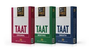 Designs of TAAT™ packs that will be offered for sale at tobacco retailers in Ohio beginning this quarter.