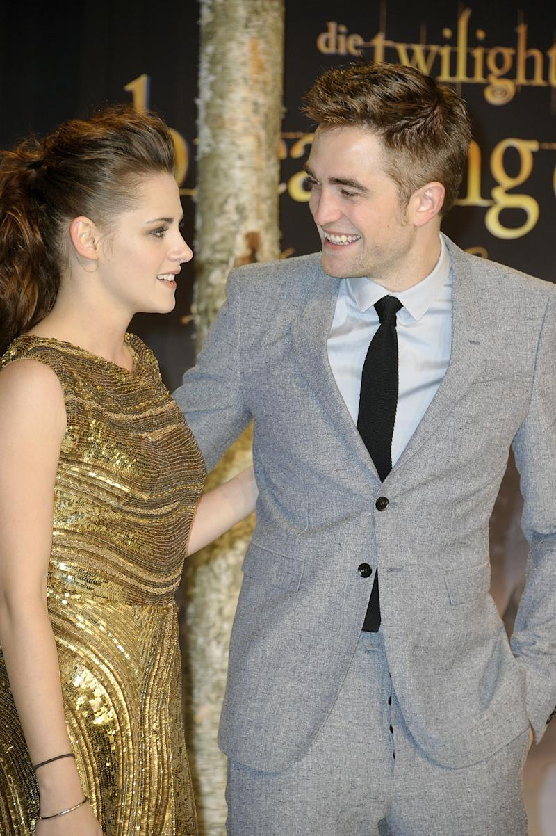 Kristen Stewart and Robert Pattinson attend the 'Twilight Saga: Breaking Dawn Part 2' premier on November 16, 2012 in Berlin, Germany. (Photo: Luca Teuchmann/WireImage)