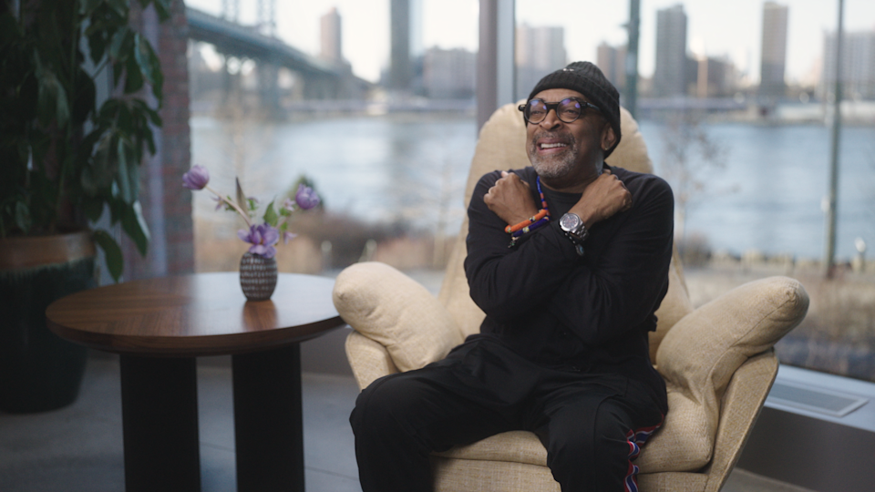 """Da 5 Bloods"" director Spike Lee does the ""Black Panther"" salute reminiscing about Chadwick Boseman in a new Netflix ""Portrait of an Artist"" special."