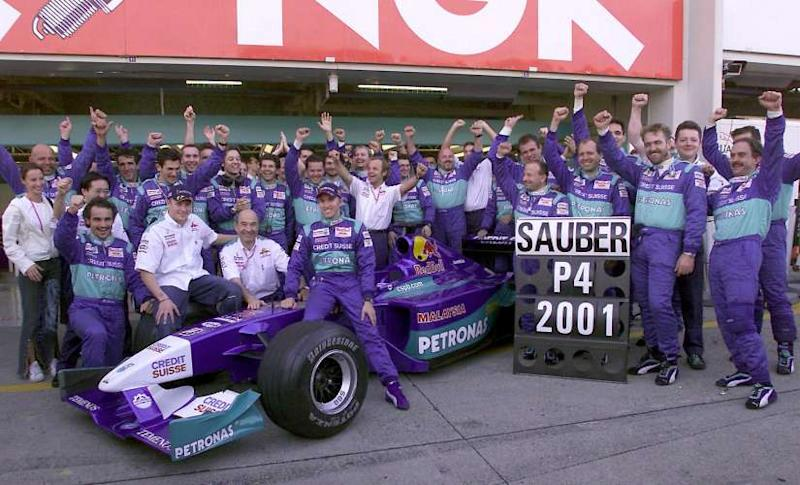 Team Sauber Petronas took fourth place in the Formula 1 Constructors championship in 2001. Image: Sauber Motorsport AG