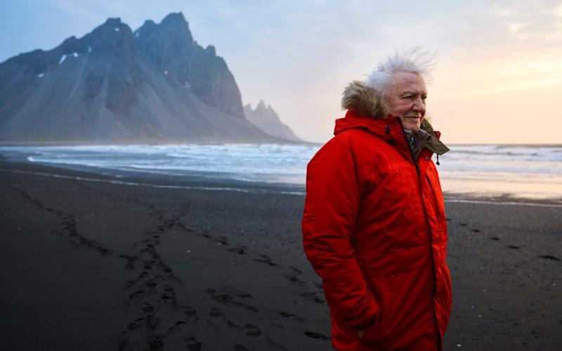 Sir David Attenborough in the opening seems for the new BBC series, Seven Worlds, One Planet - WARNING: Use of this copyright image is subject to the terms of use of BBC Pictures' Digital Picture