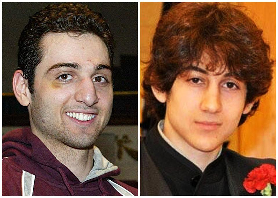 This combination of undated photos shows Tamerlan Tsarnaev, 26, left, and Dzhokhar Tsarnaev, 19. The FBI says the two brothers and suspects in the Boston Marathon bombing killed an MIT police officer, injured a transit officer in a firefight and threw explosive devices at police during a getaway attempt in a long night of violence that left Tamerlan dead and Dzhokhar still at large on Friday, April 19, 2013. The ethnic Chechen brothers lived in Dagestan, which borders the Chechnya region in southern Russia. They lived near Boston and had been in the U.S. for about a decade, one of their uncles reported said. (AP Photo/The Lowell Sun & Robin Young)