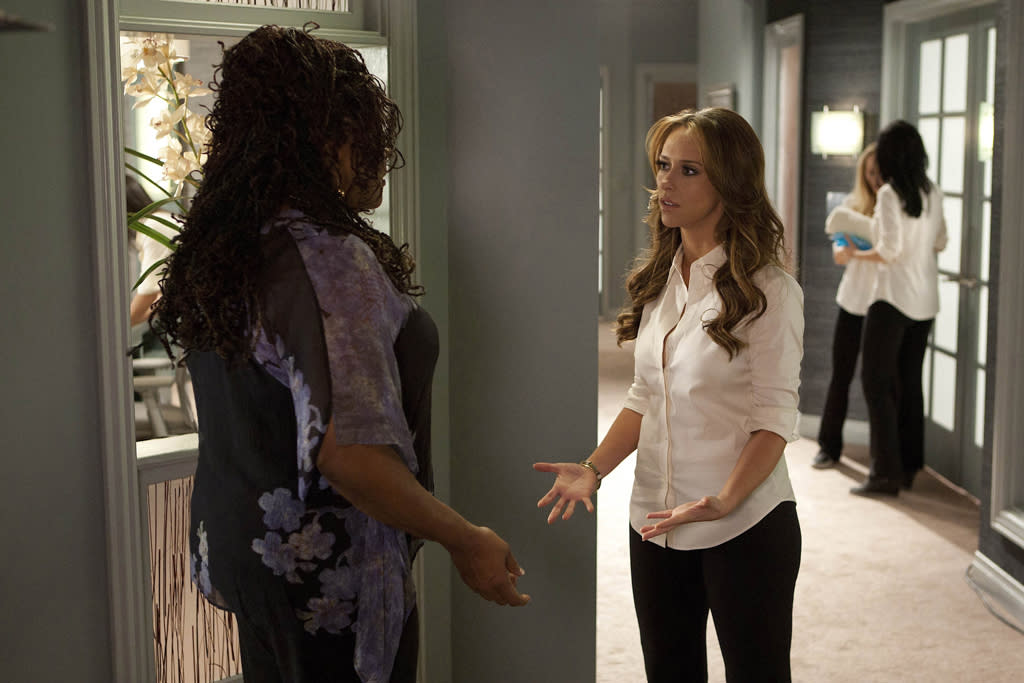 "Loretta Devine as Georgia and Jennifer Love Hewitt as Riley in ""The Client List."""