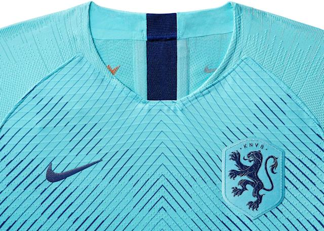 <p>The away kit for Netherlands, to be worn in the Women's World Cup. </p>