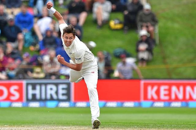 New Zealand's Trent Boult, in action in March 2017 (AFP Photo/Marty MELVILLE)