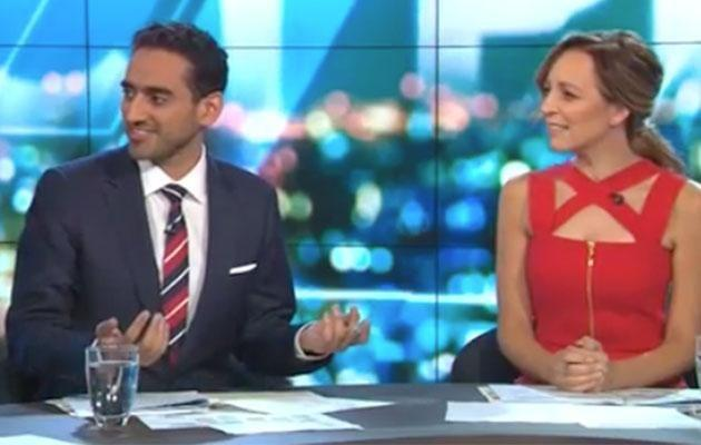 Waleed couldn't help but challenge Pete's question. Photo: Network Ten