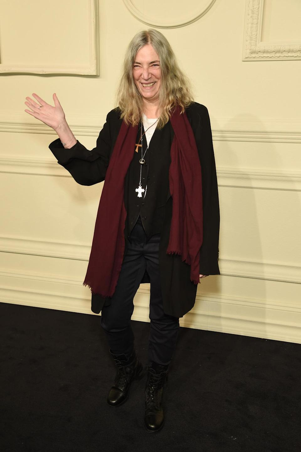 <p>The iconic singer told Yahoo Style that she brought her daughter to the show and particularly loves Chanel boots.</p>