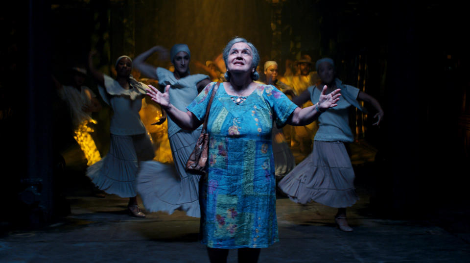 """This image released by Warner Bros. Pictures shows Olga Merediz in a scene from """"In the Heights."""" (Warner Bros. via AP)"""