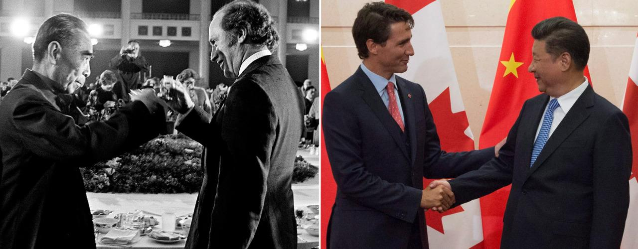 Yahoo Canada News takes a look at Trudeau family's current trip and contrast it with scenes from the elder Trudeau's mission in 1973. The Canadian Press