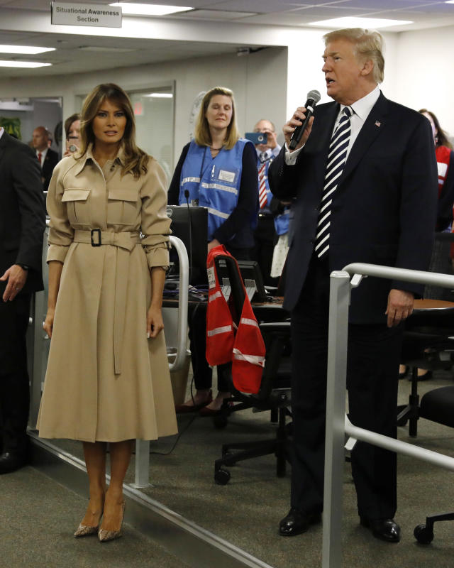 President Trump has offered new details about first lady Melania's kidney procedure. (Photo: Getty Images)
