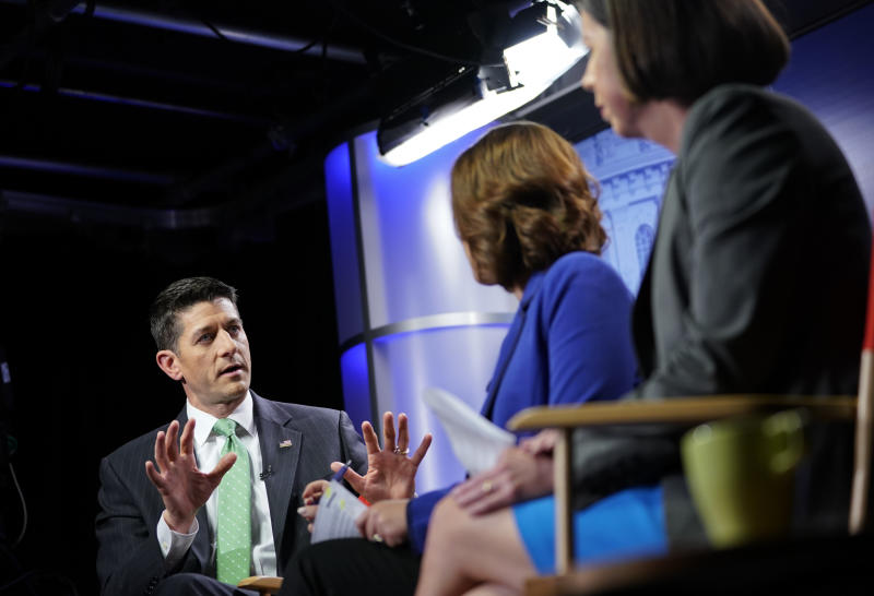 AP interview: Ryan backs off promise not to add to deficit