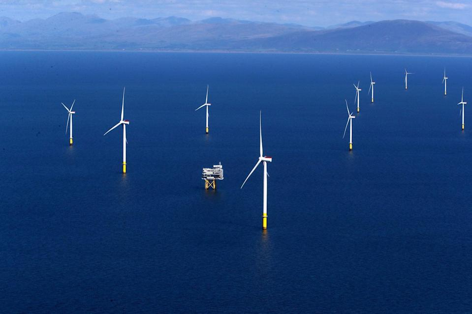 <p>Windfarms are key to Britain meeting its climate change targets</p> (PA)