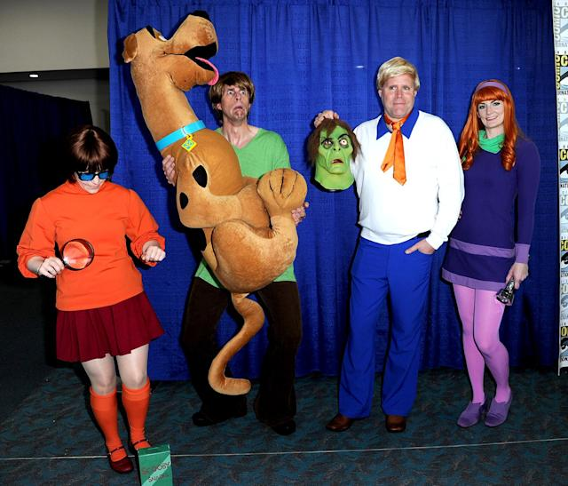 <p>Cosplayers dressed as <i>Scooby-Doo</i> at Comic-Con International on July 21, 2018, in San Diego. (Photo: Albert L. Ortega/Getty Images) </p>