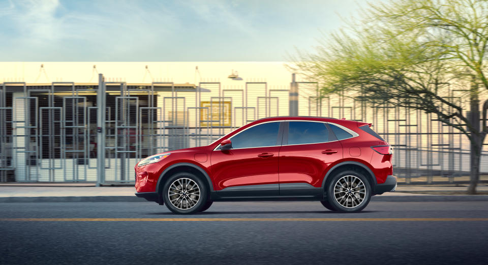 2020 Ford Escape Plug-In Hybrid has an estimated 37-mile electric range and a 100 MPGe.