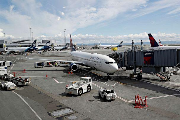 PHOTO: Planes are seen parked at gates at San Francisco International Airport, March 17, 2020. (Shannon Stapleton/Reuters)