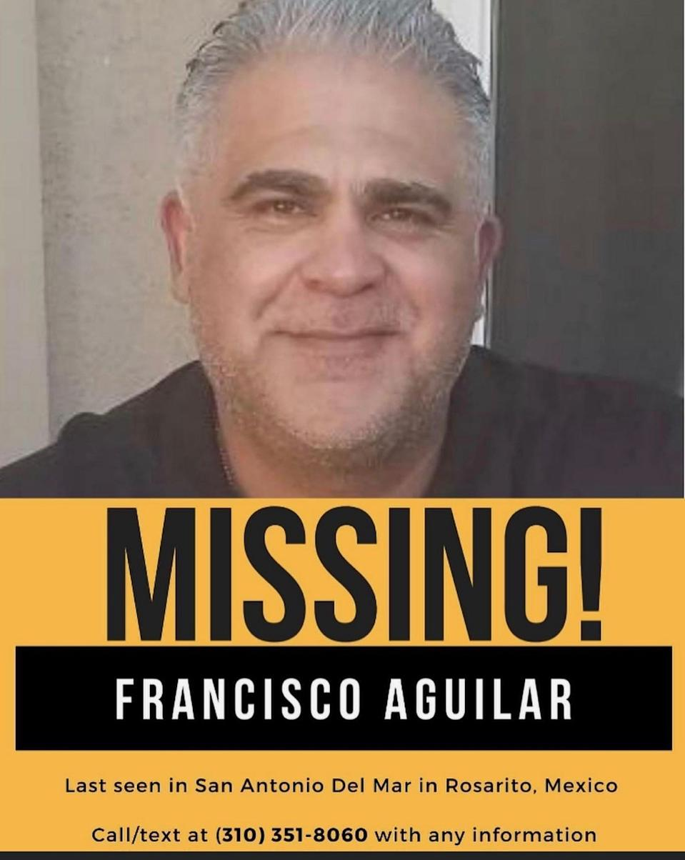 A flier says Francisco Aguilar is missing.