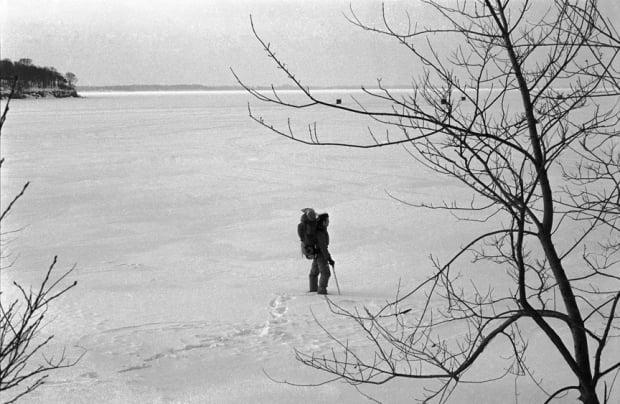 David Voelker crossed a frozen Lake Erie in February 1978. (Submitted by David Voelker - image credit)