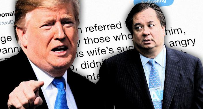 Donald Trump and George Conway. (Photo illustration: Yahoo News; photos: AP, Chip Somodevilla/Getty Images)