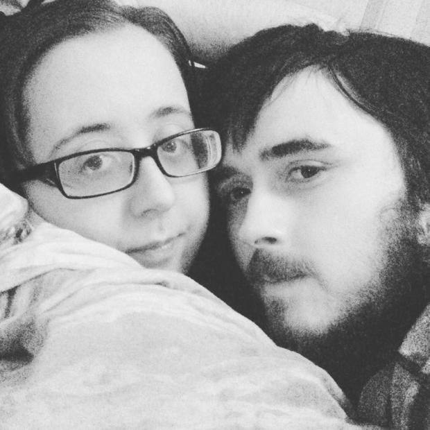 Shannon Platt, 23, is pictured with her husband Jamie. Source: Wales News Service/Australscope