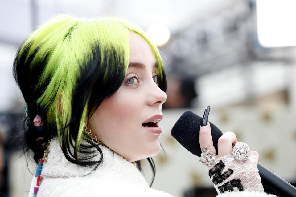 Billie Eilish revealed why she's kept her signature green hair color for so long. (Photo: REUTERS/Mike Blake)