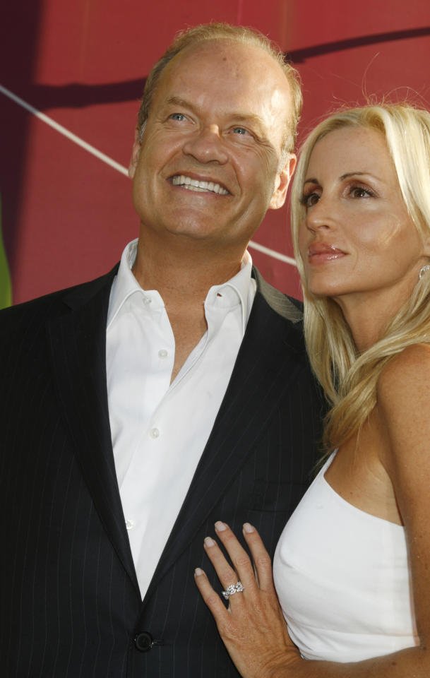 "Actor Kelsey Grammer and wife at the premiere of the film ""Swing Vote"" in Hollywood."