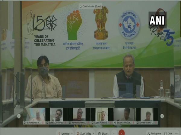 Rajasthan Chief Minister Ashok Gehlot speaks at the video conference. (Photo/ANI)