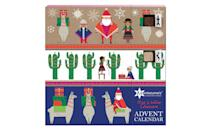 "<p>The advent calendar for those that can't decide, this Mexican-inspired creation includes both white and milk chocolates. <br><a href=""https://www.johnlewis.com/search?Ntt=advent+calendar&Nty=1&_requestid=2771455"" rel=""nofollow noopener"" target=""_blank"" data-ylk=""slk:John Lewis, £12.50"" class=""link rapid-noclick-resp""><i>John Lewis, £12.50</i></a> </p>"