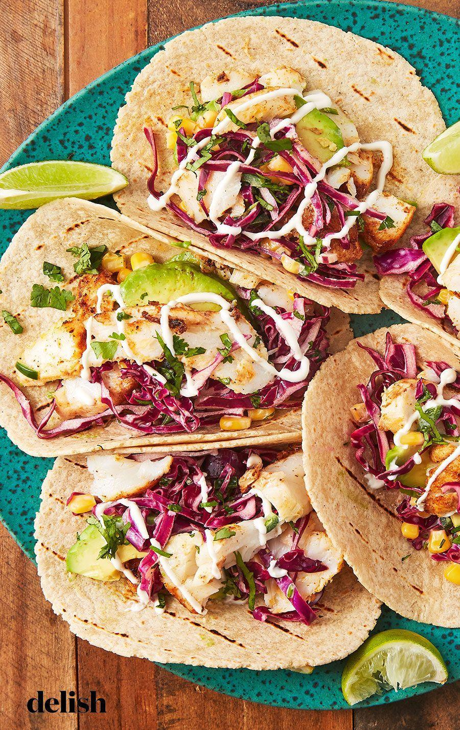 "<p>These will transport you straight to southern California.</p><p>Get the recipe from <a href=""https://patty-delish.hearstapps.com/cooking/recipe-ideas/recipes/a53296/easy-fish-taco-recipe/"" rel=""nofollow noopener"" target=""_blank"" data-ylk=""slk:Delish"" class=""link rapid-noclick-resp"">Delish</a>.</p>"