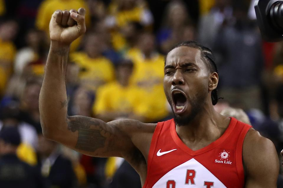 Kawhi Leonard earned Finals MVP honors for the second time. (Getty)