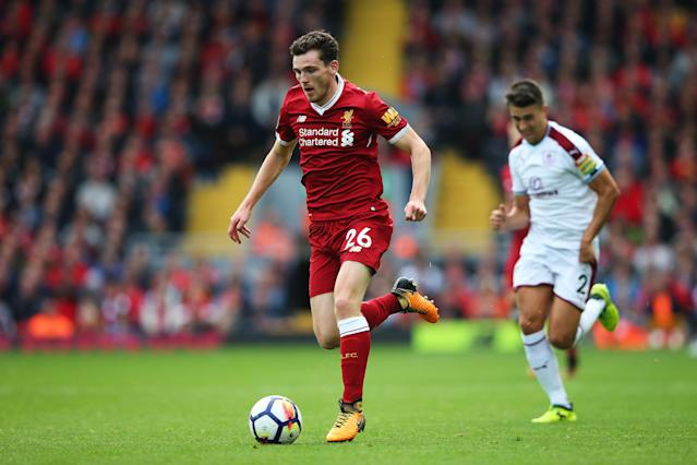 Waiting for his moment: Andy Robertson has yet to become an Anfield regular