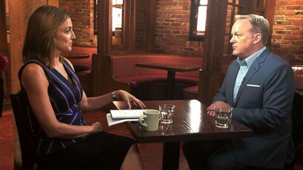PHOTO: ABC News' Paula Faris sat down for an interview with former White House press secretary Sean Spicer. (ABC News)