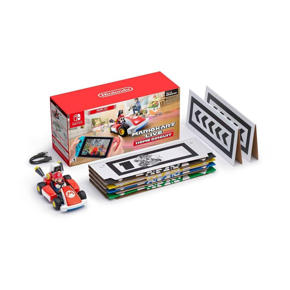 <p>The newest game for your tween's Nintendo Switch, <span>Mario Kart Live: Home Circuit</span> ($100), brings gaming to life through its real Mario Kart that drives through obstacles they can set up around the house.</p>
