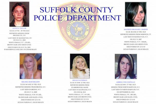 PHOTO: Pictures of women, whose bodies were identified among 10 bodies found near Gilgo Beach since December 2010, are seen in this Suffolk County Police handout image released to Reuters on September 20, 2011. (Courtesy of Suffolk County Police via Reuters, FILE)