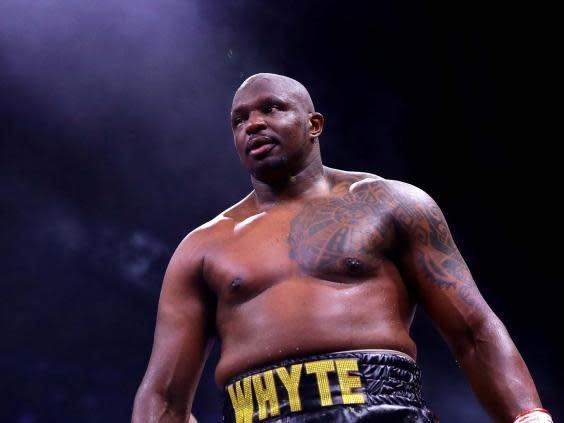Dillian Whyte is working his way to a title shot (Getty)