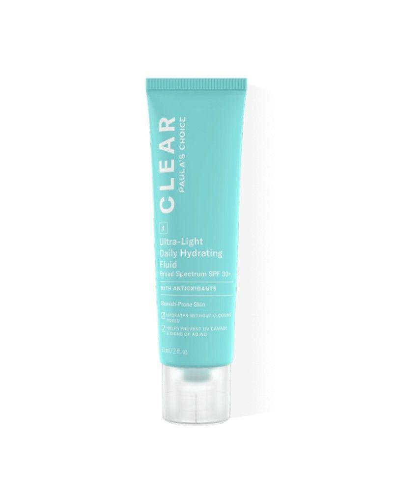 """<p><a class=""""link rapid-noclick-resp"""" href=""""https://go.redirectingat.com?id=127X1599956&url=https%3A%2F%2Fwww.cultbeauty.co.uk%2Fpaulas-choice-clear-moisturiser-spf30.html%3Fvariant_id%3D23084&sref=https%3A%2F%2Fwww.elle.com%2Fuk%2Fbeauty%2Fskin%2Fg32735%2Fbest-face-sun-cream-spf-acne-spots-non-comedogenic%2F"""" rel=""""nofollow noopener"""" target=""""_blank"""" data-ylk=""""slk:SHOP NOW"""">SHOP NOW</a></p><p>Developed by straight-talking skincare expert Paula Begoun, her products are effective and hardworking. This SPF is no exception, delivering protection and hydration in a troublesome-skin-friendly liquid. </p>"""