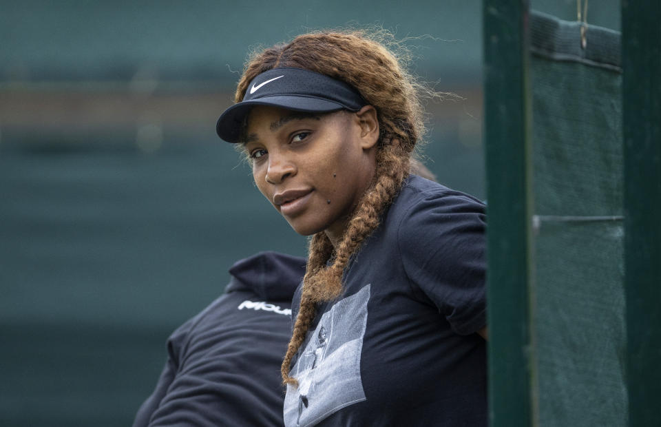 Serena Williams will try to win her record-tying 24th Grand Slam title at Wimbledon. (Photo by AELTC/Pool/Getty Images)