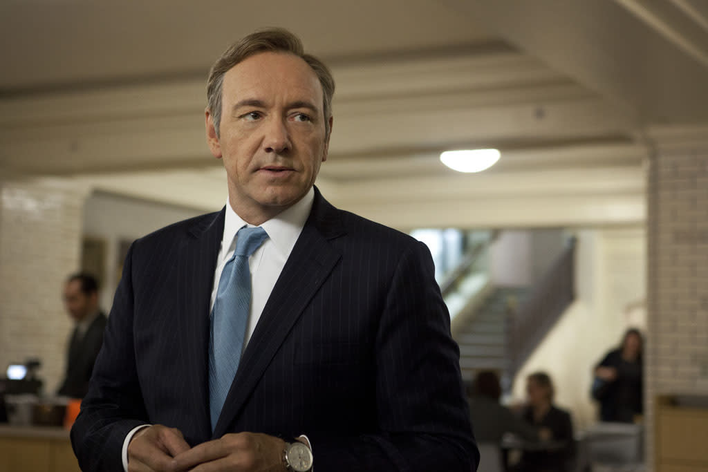 "Kevin Spacey in the ""House of Cards"" Season 1 episode, ""Chapter 1."""