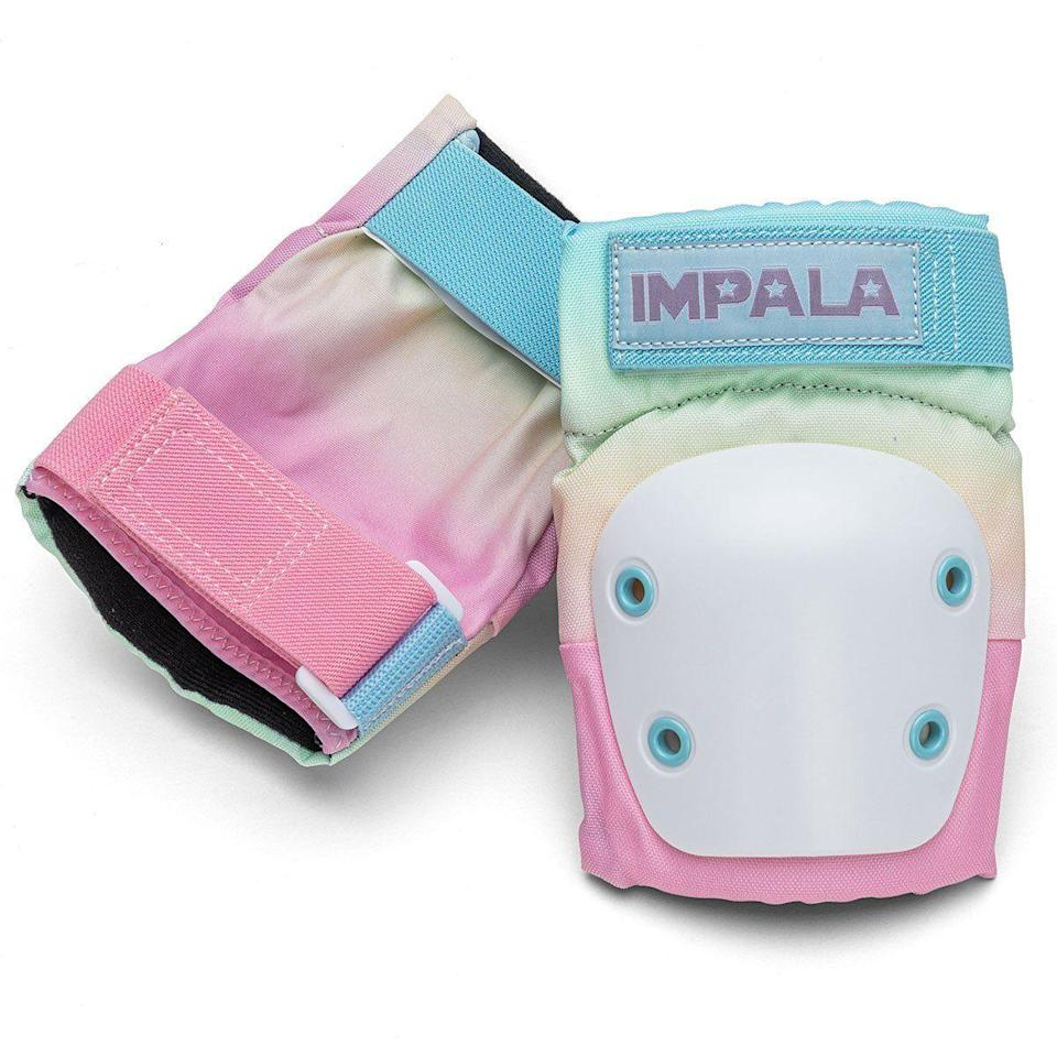 "<p><strong>Impala</strong></p><p>impalarollerskates.com</p><p><strong>$49.95</strong></p><p><a href=""https://impalarollerskates.com/collections/protective-gear/products/impala-protective-set-pastel-fade?variant=32231767703646"" rel=""nofollow noopener"" target=""_blank"" data-ylk=""slk:Shop Now"" class=""link rapid-noclick-resp"">Shop Now</a></p><p>For your new quarantine hobby. </p>"