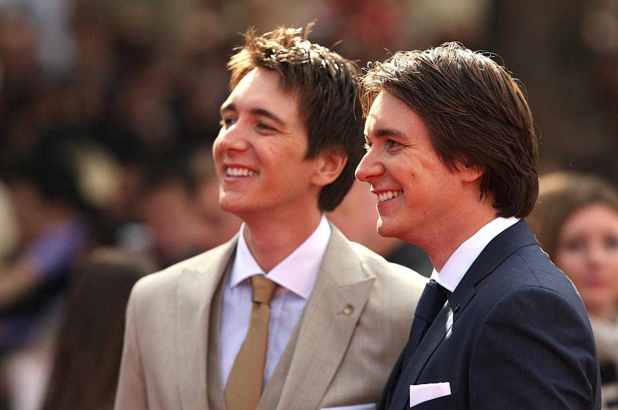 Oliver and James Phelps arriving for the world premiere of Harry Potter And The Deathly Hallows: Part 2.
