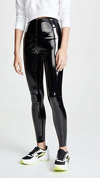 """<br><br><strong>Commando</strong> Perfect Control Patent Leather Leggings, $, available at <a href=""""https://go.skimresources.com/?id=30283X879131&url=https%3A%2F%2Fwww.zappos.com%2Fp%2Fcommando-perfect-control-patent-leather-leggings-slg25-black%2Fproduct%2F9145557%2Fcolor%2F3"""" rel=""""nofollow noopener"""" target=""""_blank"""" data-ylk=""""slk:Zappos"""" class=""""link rapid-noclick-resp"""">Zappos</a>"""