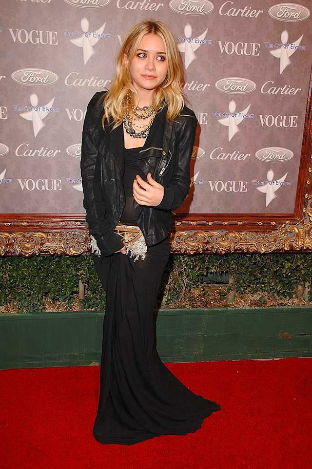"Ashley Olsen continues to goth it up in yet another dark ensemble. Perhaps the tween titan/billionairess should invest in a stylist? Steve Granitz/<a href=""http://www.wireimage.com"" target=""new"">WireImage.com</a> - January 12, 2008"