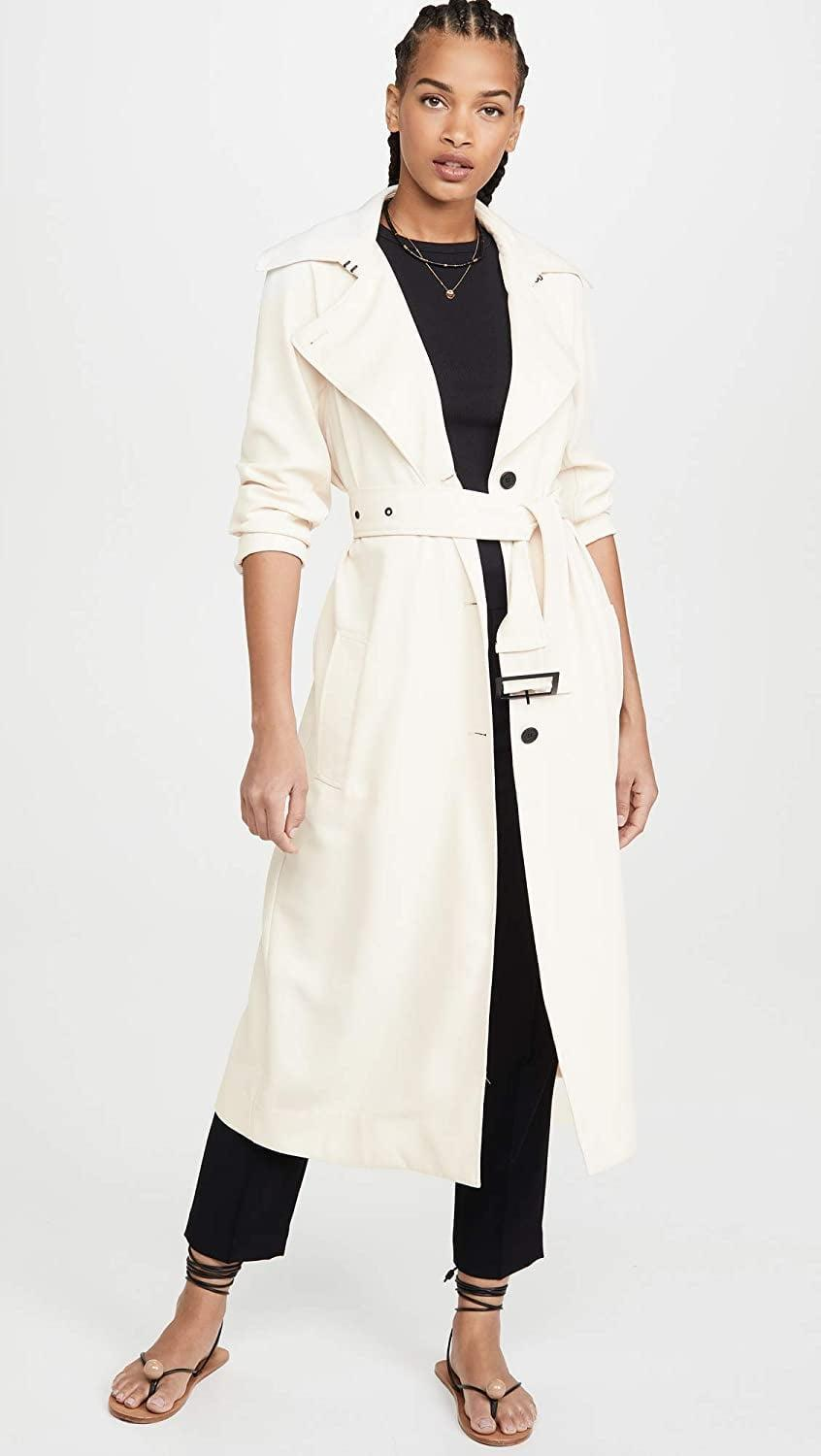 <p>This <span>BB Dakota I Spy Trench Coat</span> ($75-$150) makes for a great layering piece.</p>