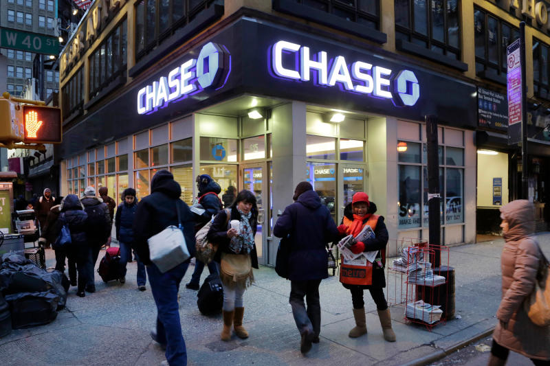 Oficina bancaria de Chase Bank, en Nueva York. (AP Photo/Mark Lennihan)