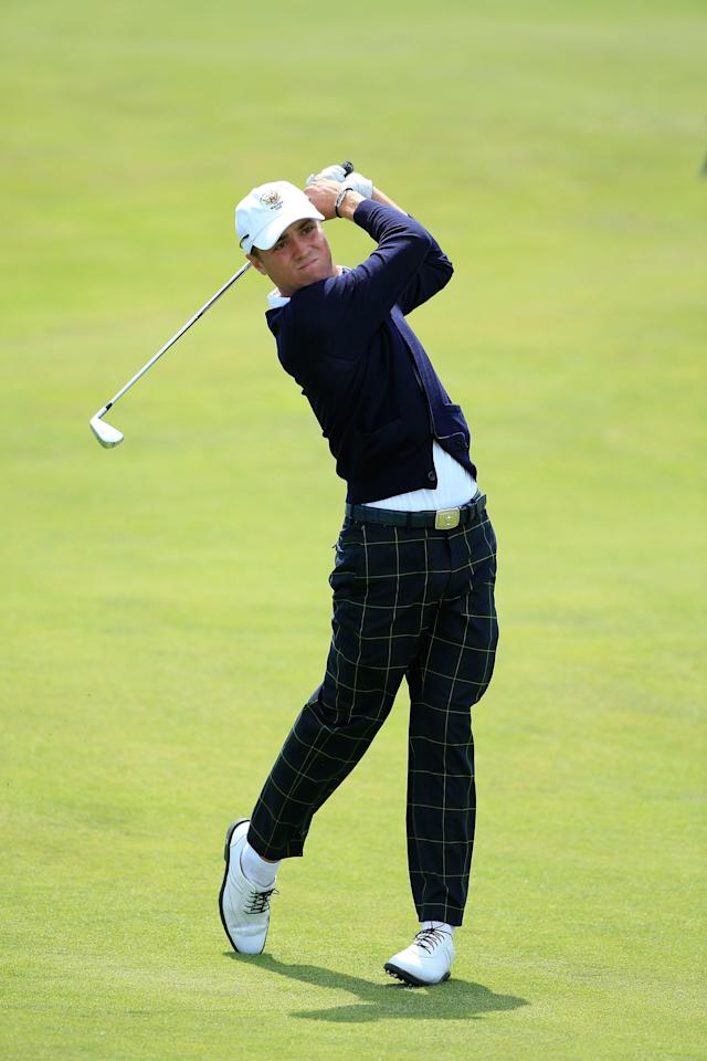 Thomas made the Walker Cup his amateur swansong, and did so in style, posting a 2-0-1 record include a 6-and-4 blowout win over Max Orrin in Sunday singles as the U.S. cruised to a 17-9 victory.