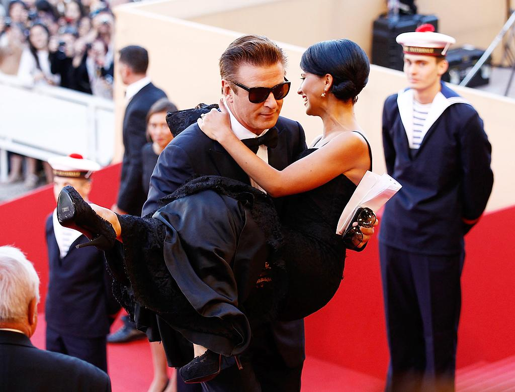 "Don't ever say Alec Baldwin isn't chivalrous! The ""30 Rock"" star proved he's quite the gentlemen when he gave his fiancee, yoga teacher Hilaria Thomas, a lift up the stairs at the opening ceremony at the Cannes Film Festival on Wednesday. (5/16/2012)"