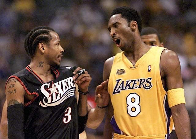 Allen Iverson and Kobe Bryant stand out to many younger players as the template for the sort of competitive fire you need to star in the NBA. (Getty)